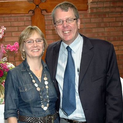 Peter Wessels and his wife Debbie - 2021